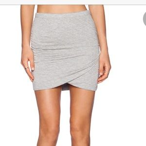 Bella Luxx Shirred Side Cross Over Body Con Skirt